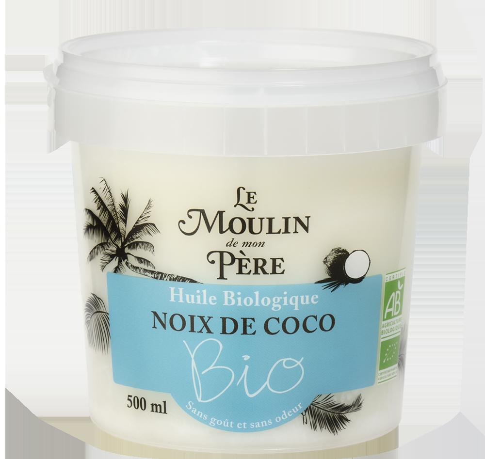 Moulin de mon pere Pot huile noix de coco bio desodo 500ml