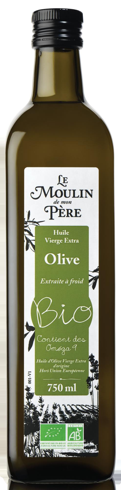 Moulin de mon pere huile olive bio 750ml