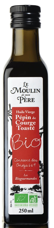 Moulin de mon pere huile pepin de courge toaste bio 250ml