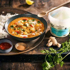 recette curry Le Moulin de mon Père