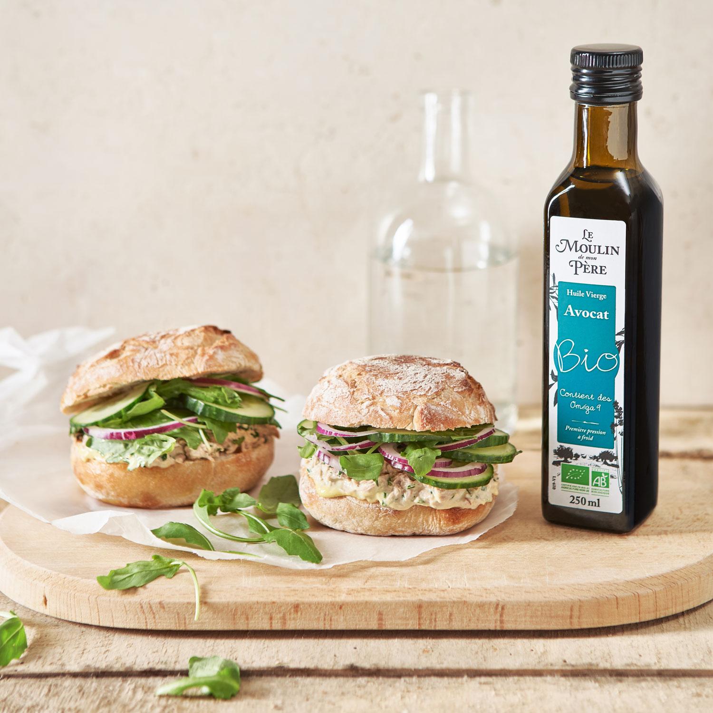recette sandwich thon mayonnaise Le Moulin de mon Père