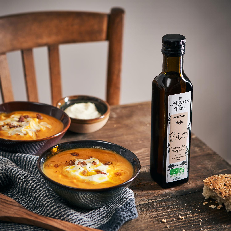 recette soupe potimarron Le Moulin de mon Père