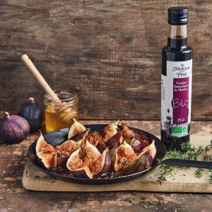 recette poelée de figues au miel de lavande Le Moulin de mon Père