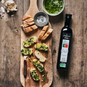 recette pain portugais a l'ail herbe et huile olive mdmp