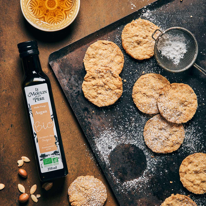 recette sables a l'eau de fleur d'oranger huile argan mdmp