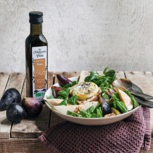 recette salade d'automne cabecou chaud huile noix mdmp