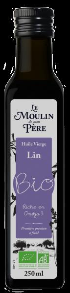 Moulin de mon pere huile lin bio 250ml