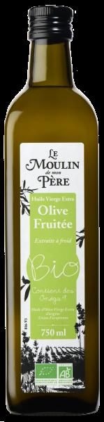 Moulin de mon pere huile olive fruitee bio 750ml