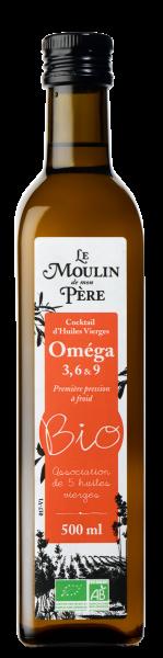 Moulin de mon pere huile omega 3-6-9 bio 500ml