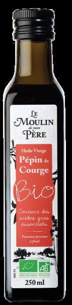 Moulin de mon pere huile pepin de courge bio 250ml